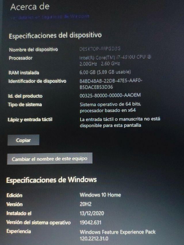 Asus i7 Portátil 17 Pulgadas Cargador - Windows10
