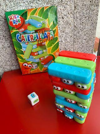 Juego caterpillars tower. Torre de orugas.