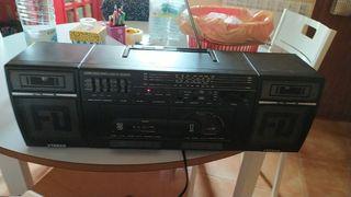 radio reproductor y grabador de doble casette