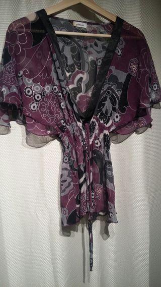 Blusa de mujer transparente -- Talla M