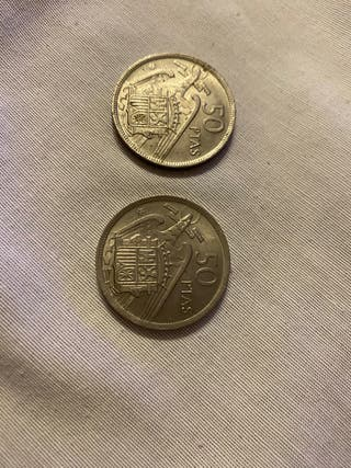 Monedas 50 pesetas franco 1957