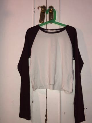 camiseta/ top con mangas largas pull and bear
