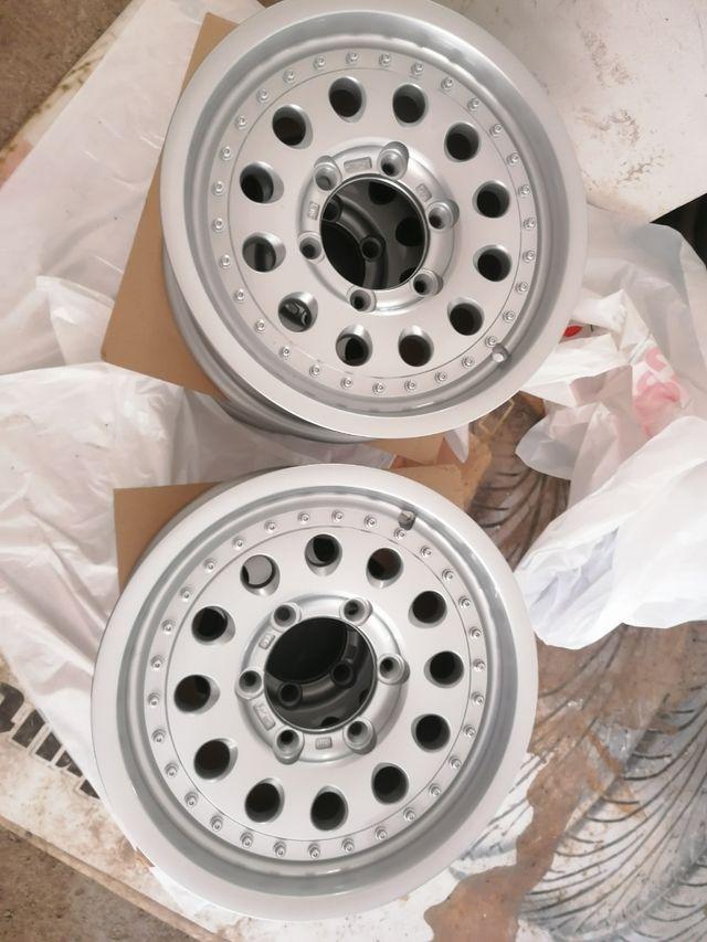 Llantas aluminio 15pulgadas, 4x4, nuevas