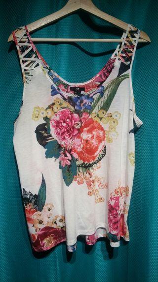 Camiseta de mujer sin manga H&M