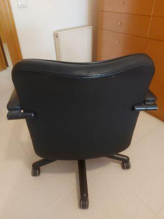 silla despacho piel