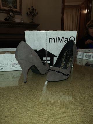 zapatos tacon mimao