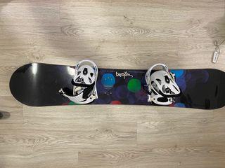 Tabla snowboard Burton Feather + fijaciones Burton