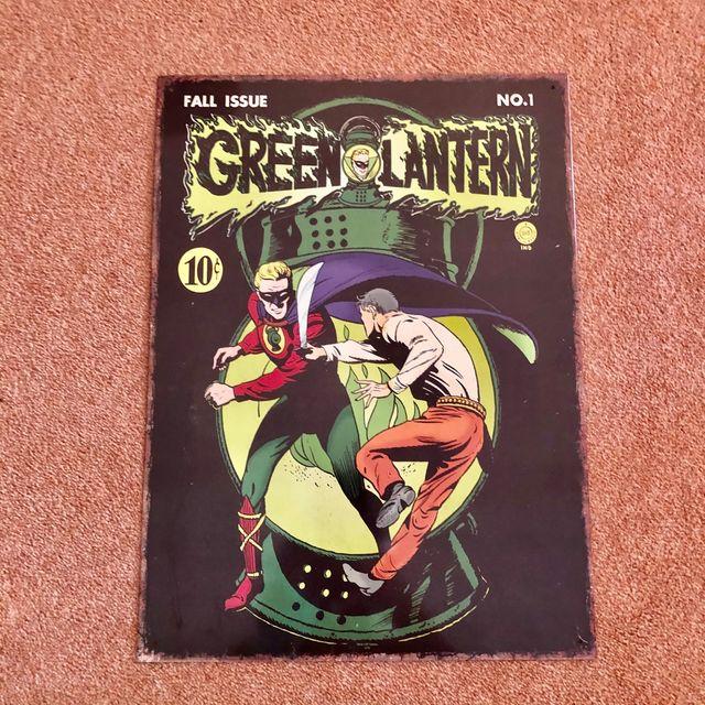 Green Lantern Metal Poster DC Comic #1