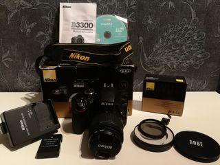 Camara Nikon D3300 y accesorios