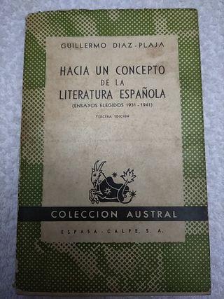 HACIA UN CONCEPTO DE LA LITERATURA ESPAÑOLA