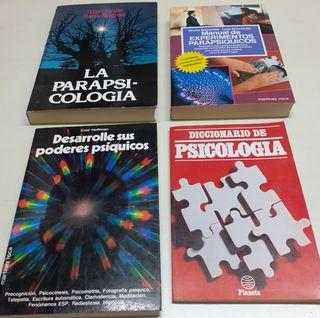 4 Libros: Parapsicología. Psicología.