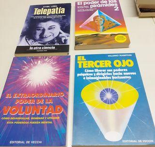 4Libros:Telepatía.Poder Pirámides.Voluntad.3er Ojo