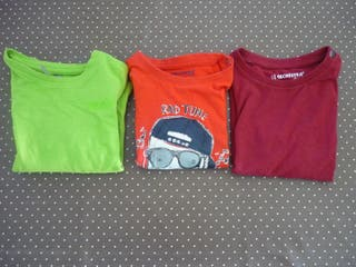 Lote camisetas 18 meses Orchestra