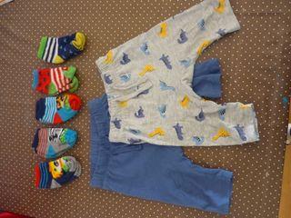Lote leggins 4 - 6 meses y calcetines