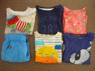 Lote de 6 camisetas 9 meses + regalo