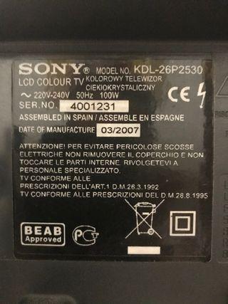 Sony Bravia KDL26P2530