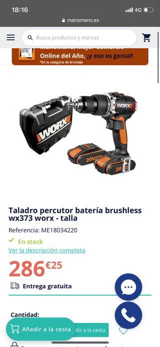 Taladro percutor worx