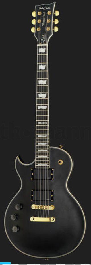 Guitarra zurdos Harley Benton SC-1000LH SBK