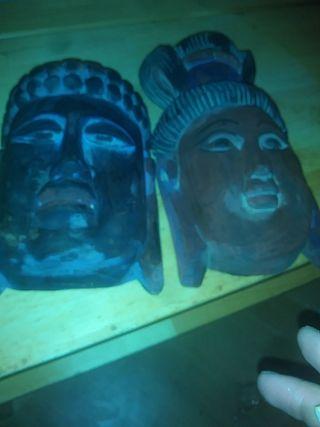 mascaras japonesas de madera