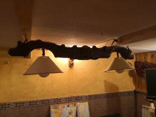 lámpara rústica yugo billar