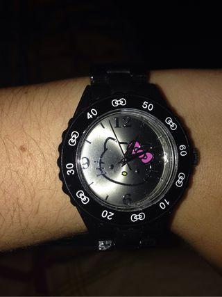 Reloj hello kitty negro