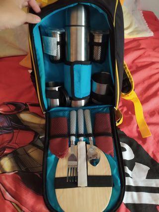 maleta de picnic para senderismo nueva