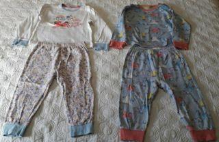 oferton : lote 3 pijamas + bata + saco :2 a 3 año