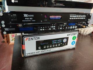 Amplificador Fenton, grabadora y sintonizador