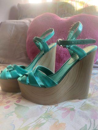 sandalias turquesa Marypaz