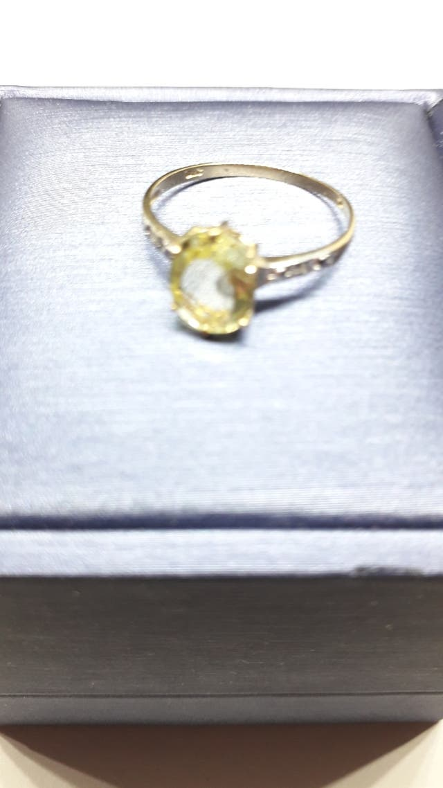 New 9ct Yellow Gold Natural Oval Lemon Quart