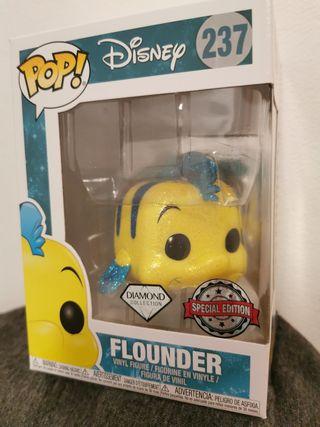 Funko pop Flounder Diamond. La Sirenita