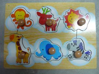 Puzzle bebé animales - Juguete de madera