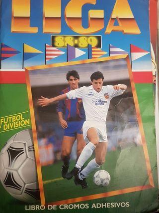 Album cromos liga 88/89
