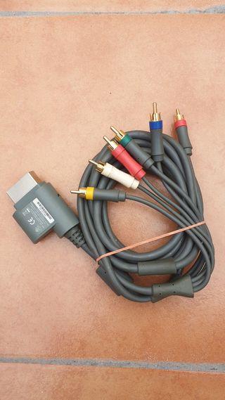 Cable por componentes xbox360 original