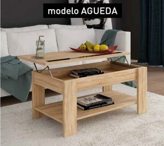 Mesa de centro elevable color blanco ref-05