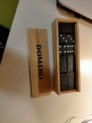domino madera juego mesa