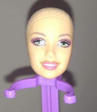 Muñeca Barbie cabeza para hacer tu propia versión.