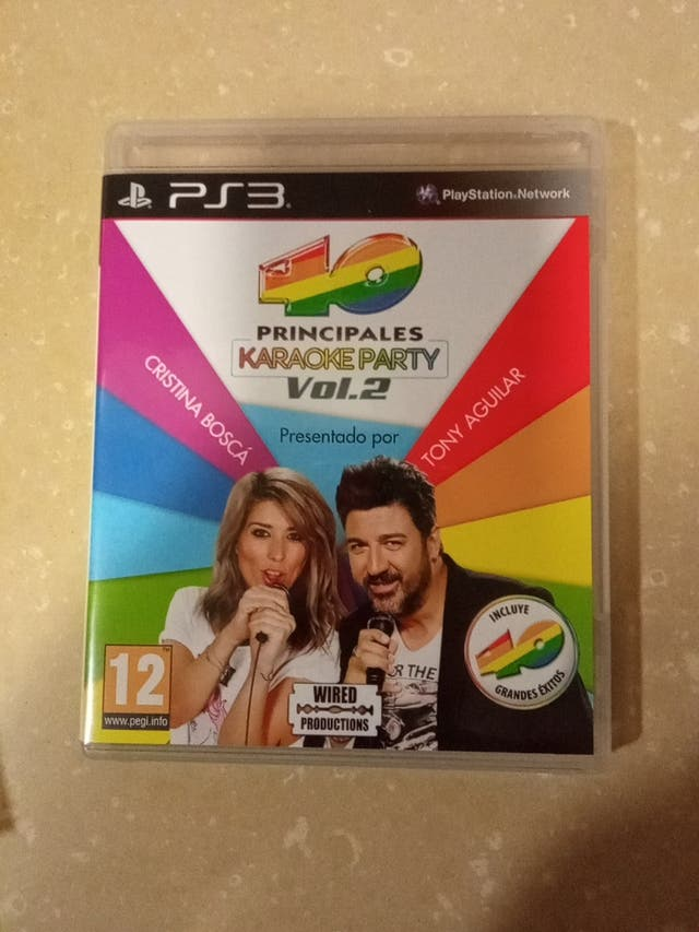 PS3 juego karaoke Party 40 principales