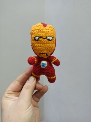Peluche amigurimi Iron Man crochet ganchillo