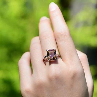 Diaspore Sultanite Gemstone Ring and Earring