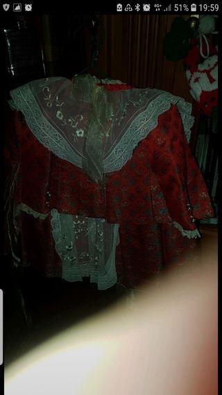 traje de fallera rojo niña 2 años