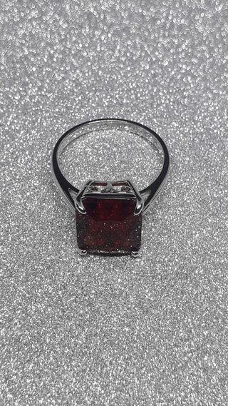 Diaspore Sultanite Gemstone Nano Ruby ring