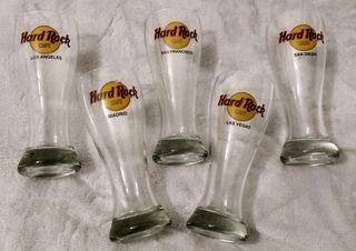 Hard Rock Cafe pilsner glasses