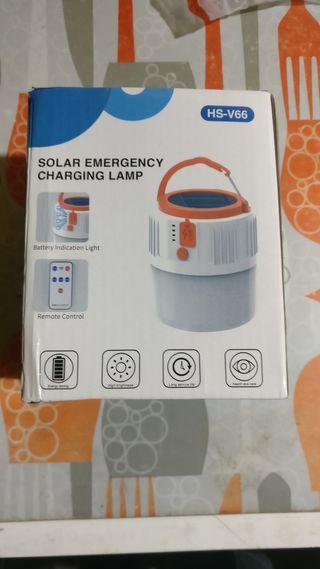solar emergency charging lamp
