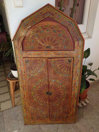 Ventanal Marroquí / Tallado / Pintado a Mano