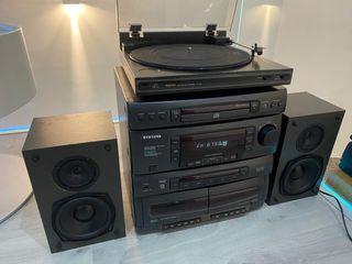 Equipo de música con tocadiscos Samsung