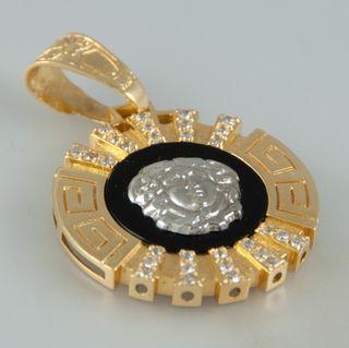 Colgante estilo Versace en oro 18k con criconitas