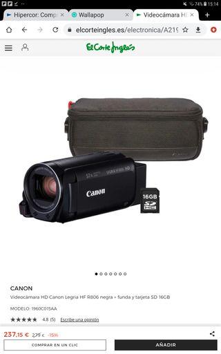 Videocamara canon