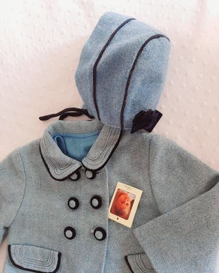 Abrigo capota LANA niña 2 años