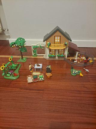 Playmobil Granja con mercado